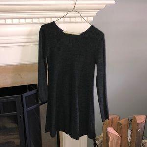 Woven Sweater Dress